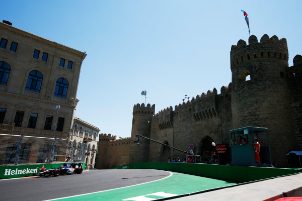 Baku City Circuit, Baku, Azerbaijan. Saturday 24 June 2017. Artem Markelov (RUS, RUSSIAN TIME)  World Copyright: Hone/LAT Images ref: Digital Image _ONY9709