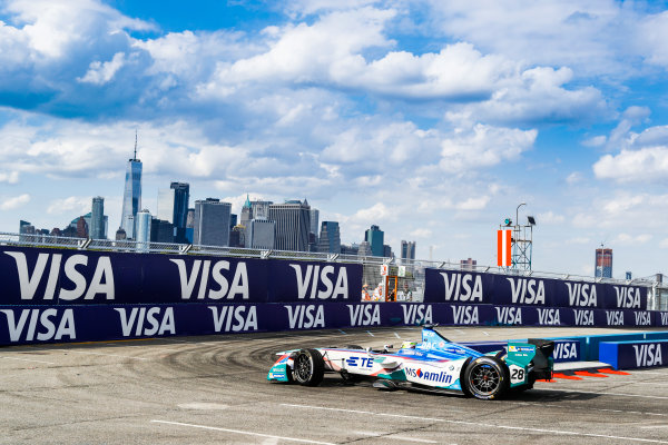 2016/2017 FIA Formula E Championship. Round 9 - New York City ePrix, Brooklyn, New York, USA. Saturday 15 July 2017. Antonio Felix da Costa (PRT), Amlin Andretti, Spark-Andretti, ATEC-02. Photo: Steven Tee/LAT/Formula E ref: Digital Image _O3I2856