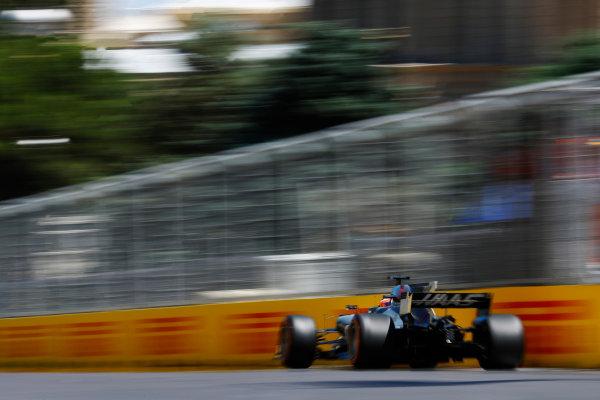Baku City Circuit, Baku, Azerbaijan. Saturday 24 June 2017. Romain Grosjean, Haas VF-17.  World Copyright: Steven Tee/LAT Images ref: Digital Image _R3I2814
