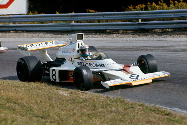 Mosport Park, Ontario, Canada. 21-23 September 1973. Peter Revson (McLaren M23 Ford) 1st position. Action. World Copyright: LAT PhotographicRef: 73 CAN 07.