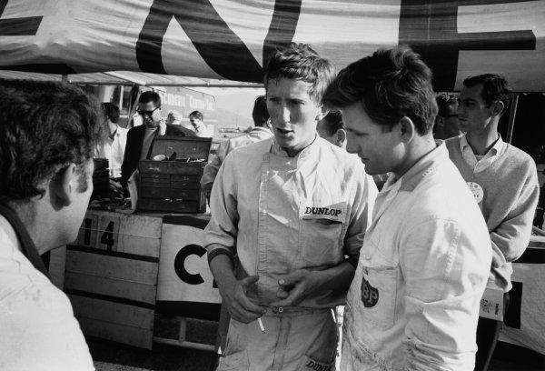 Zeltweg, Austria. 21-23 August 1964.Jochen Rindt (Brabham BT11-BRM), portrait.World Copyright: LAT PhotographicRef: Autosport b&w print