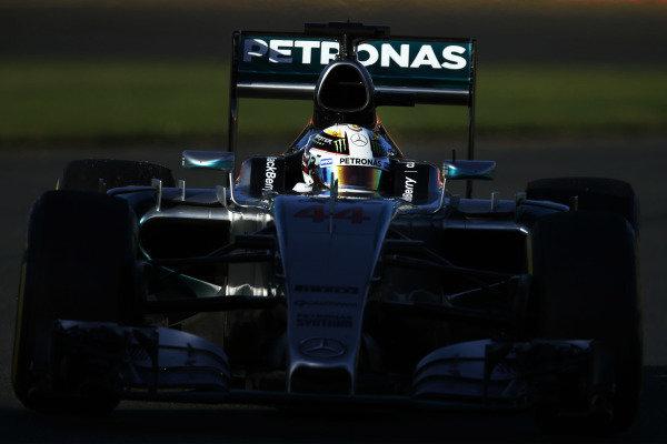Albert Park, Melbourne, Australia. Friday 13 March 2015. Lewis Hamilton, Mercedes F1 W06 Hybrid. World Copyright: Charles Coates/LAT Photographic. ref: Digital Image