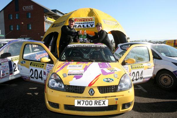 Pirelli International Rally. Carlisle, 30th April 2011.Simon Moore/Emma Morrison - Renault Clio.World Copyright: Ebrey/LAT Photographic.