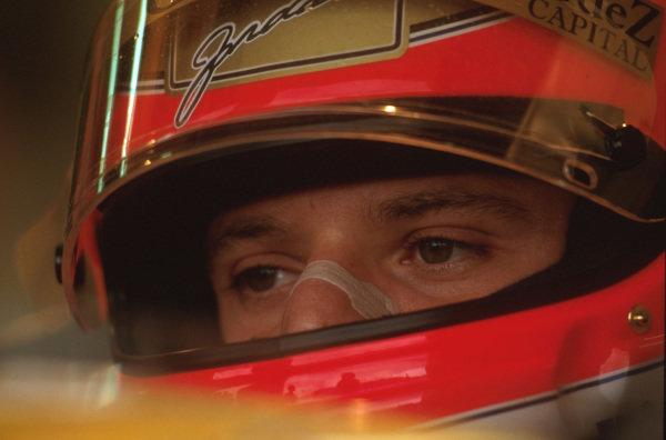 Magny-Cours, France.28-30 June 1996.Rubens Barrichello (Jordan Peugeot) 9th position.Ref-96 FRA 11.World Copyright - LAT Photographic
