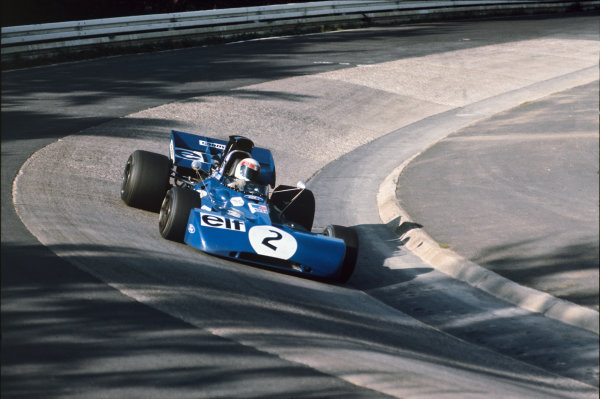 Nurburgring, Germany. 30th July - 1st August 1971.  Jackie Stewart, Tyrrell 003 Ford, 1st position.  Ref: 71GER40. World Copyright: LAT Photographic