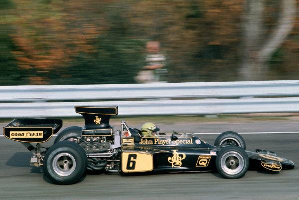 Watkins Glen, New York, USA. 3-5 October 1975. Brian Henton, Lotus 72F Ford. Ref: 75USA05. World Copyright: LAT Photographic.