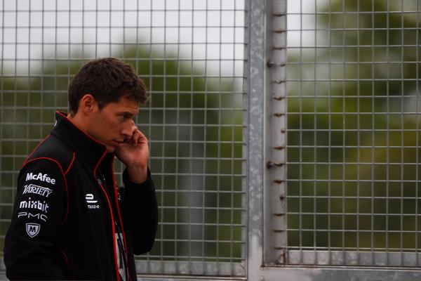 FIA Formula E Test Day, Donington Park, UK. Tuesday 25 August 2015. Loic Duval (FRA), Dragon Racing - Venturi VM200-FE-01  Photo: Sam Bloxham/FIA Formula E/LAT ref: Digital Image _G7C8213