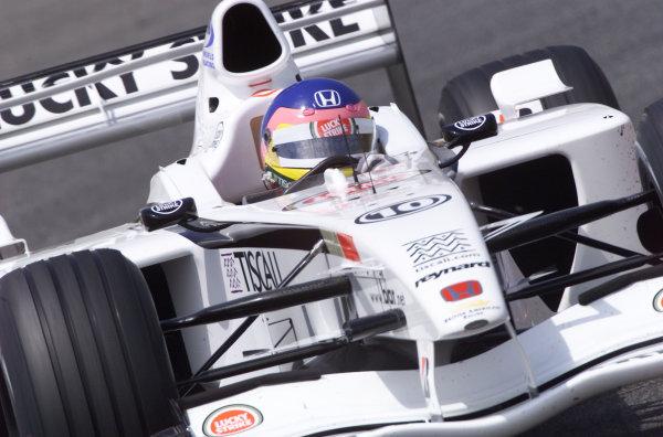 2001 Spanish Grand PrixCatalunya, Barcelona, Spain. 27-29 April 2001.Jacques Villeneuve (B.A R. 003 Honda) 3rd position.World Copyright - Steve Etherington/LAT Photographicref: 18 mb Digital Image