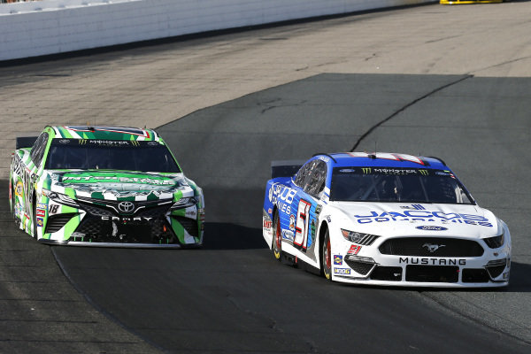 #51: Andy Seuss, Petty Ware Racing, Ford Mustang JACOB COMPANIES and #18: Kyle Busch, Joe Gibbs Racing, Toyota Camry M&M's Interstate Batteries