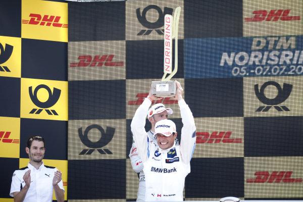Podium: Race winner Bruno Spengler, BMW Team RMG.