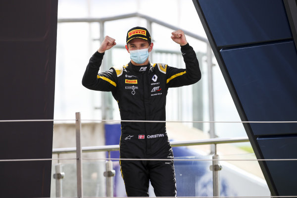 Christian Lundgaard (DNK, ART GRAND PRIX) celebrates on the podium