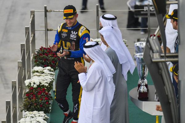 Luca Ghiotto (ITA, UNI VIRTUOSI), celebrates victory on the podium
