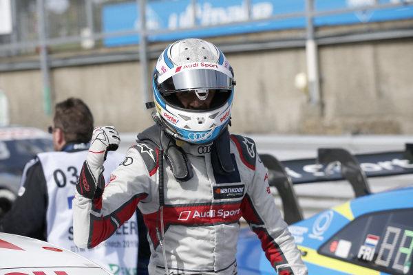 Pole sitter René Rast, Audi Sport Team Rosberg.
