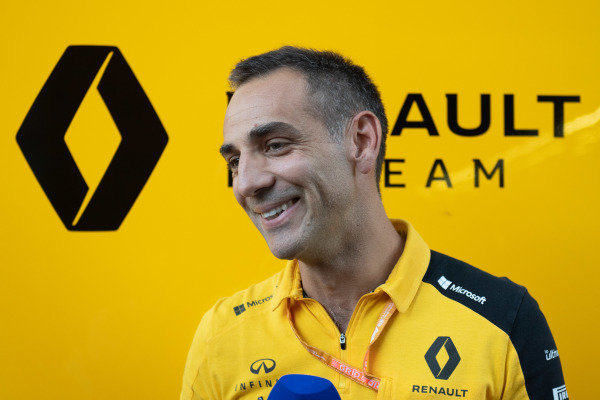 Cyril Abiteboul, Managing Director, Renault F1 Team, is interviewed
