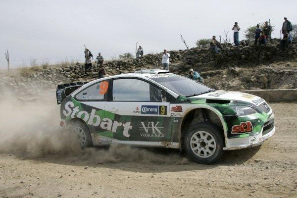FIA World Rally Championship, Rd4, March 8-11, 2007 Rally Mexico, Leon, Mexico Leg 2, Saturday,  March 10, 2007. Jari-Matti Latvala (FIN) in action on day 2. DIGITAL IMAGE