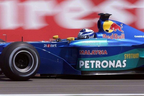 Kimi Raikkonen(FIN) Sauber Petronas C20 German Grand Prix Practice, Hockenheim 27 July 2001 DIGITAL IMAGE