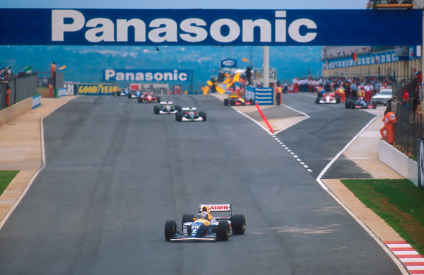1993 South African Grand Prix.Kyalami, South Africa.12-14 March 1993.Alain Prost (Williams FW15C Renault) 1st position.Ref-93 SA 11.World Copyright - LAT Photographic