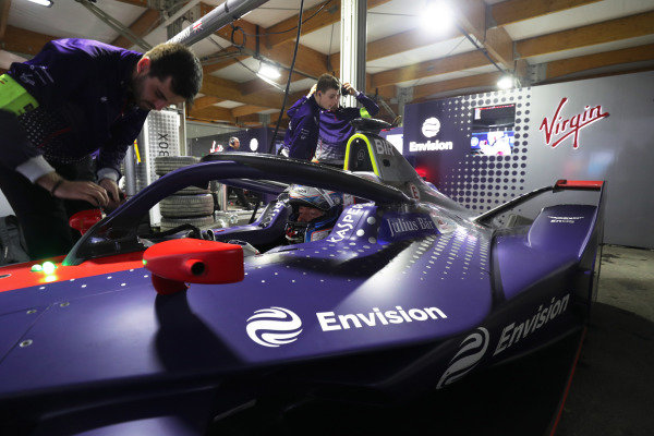 Sam Bird (GBR), Envision Virgin Racing, Audi e-tron FE05 in the garage