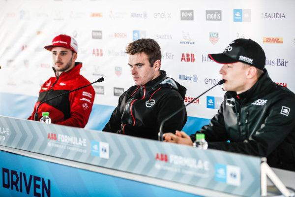 Daniel Abt (DEU), Audi Sport ABT Schaeffler, Oliver Rowland (GBR), Nissan e.Dams, Maximilian Günther (DEU), Dragon Racing in the press conference