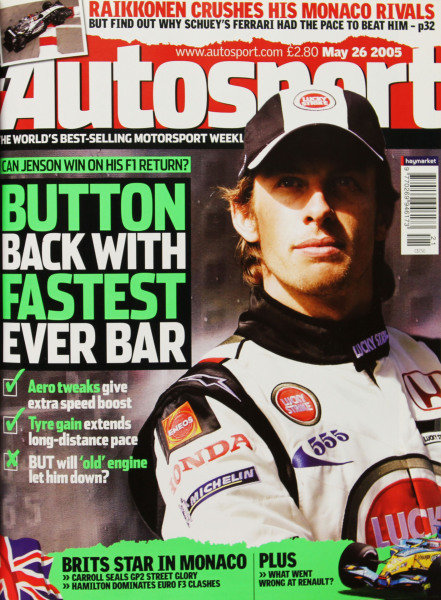 Cover of Autosport magazine, 26th May 2005