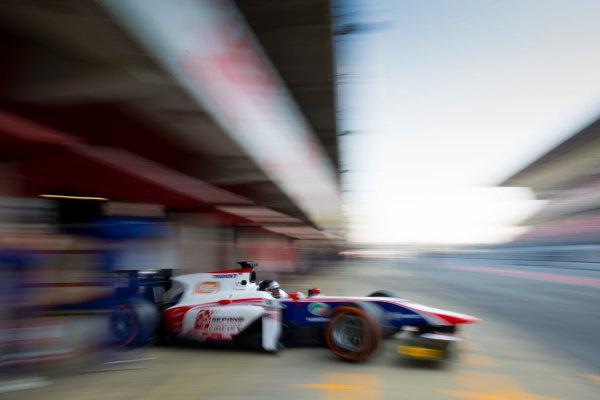 Circuit de Barcelona Catalunya, Barcelona, Spain. Wednesday 15 March 2017. Nabil Jeffri, (MAS, Trident). Action.  Photo: Alastair Staley/FIA Formula 2 ref: Digital Image 580A1443