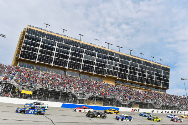 2017 Monster Energy NASCAR Cup Series - Fold of Honor QuikTrip 500 Atlanta Motor Speedway, Hampton, GA USA Sunday 5 March 2017 Chase Elliott and Dale Earnhardt Jr World Copyright: Nigel Kinrade/LAT Images ref: Digital Image 17ATL1nk08193