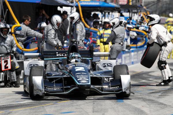 2017 Verizon IndyCar Series Toyota Grand Prix of Long Beach Streets of Long Beach, CA USA Sunday 9 April 2017 Josef Newgarden, pit stop World Copyright: Michael L. Levitt LAT Images