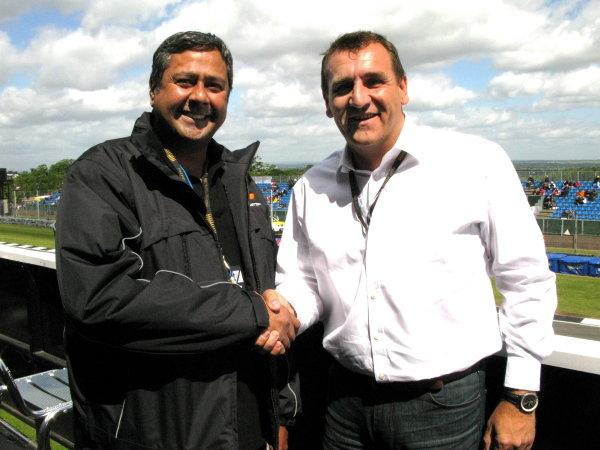 L-R: Lee Gill (GBR) and Simon Gillett (GBR) joint Chief Executives of Donington Park. MotoGP, Rd8, Nickel & Dime British Grand Prix, Donington Park, England, 20-22 June 2008.