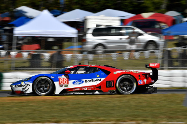 IMSA WeatherTech SportsCar Championship Motul Petit Le Mans Road Atlanta, Braselton GA Thursday 5 October 2017 66, Ford, Ford GT, GTLM, Joey Hand, Dirk Muller, Sebastien Bourdais World Copyright: Richard Dole LAT Images ref: Digital Image RDPLM028