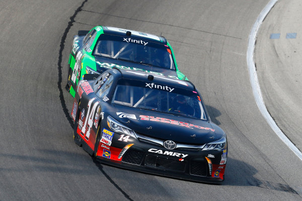 NASCAR XFINITY Series TheHouse.com 300 Chicagoland Speedway, Joliet, IL USA Saturday 16 September 2017 JJ Yeley, Superior Essex Toyota Camry and Dakoda Armstrong, WinField United Toyota Camry World Copyright: Russell LaBounty LAT Images