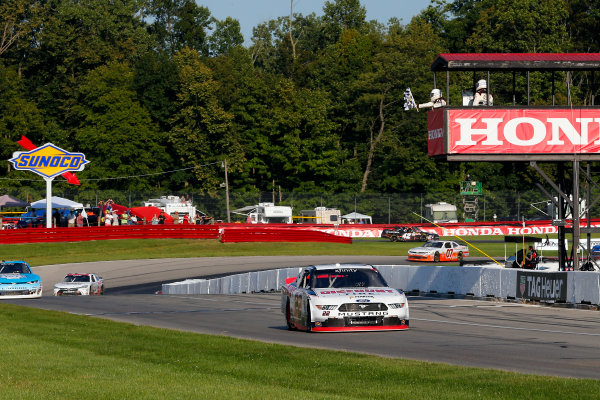NASCAR XFINITY Series Mid-Ohio Challenge Mid-Ohio Sports Car Course, Lexington, OH USA Saturday 12 August 2017 Sam Hornish Jr, Discount Tire Ford Mustang drives under the checkered flag to win World Copyright: Russell LaBounty LAT Images