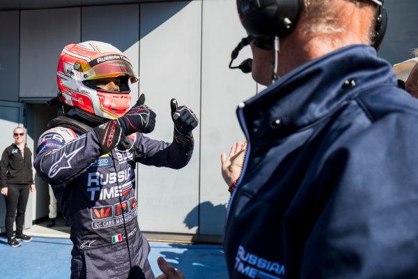 2017 FIA Formula 2 Round 9. Autodromo Nazionale di Monza, Monza, Italy. Sunday 3 September 2017. Luca Ghiotto (ITA, RUSSIAN TIME).  Photo: Zak Mauger/FIA Formula 2. ref: Digital Image _T9I9298