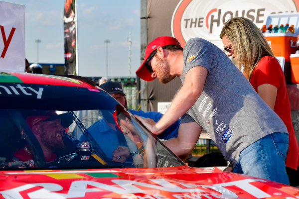 NASCAR XFINITY Series TheHouse.com 300 Chicagoland Speedway, Joliet, IL USA Saturday 16 September 2017 Justin Allgaier, BRANDT / Celebrating the Future of AG Chevrolet Camaro and team owner Dale Earnhardt Jr. World Copyright: Logan Whitton LAT Images