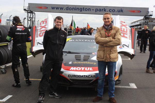 Donington Park, England. 27th-30th September 2012, Andrew Kirkaldy and Martin Whitmarsh, McLaren World Copyright. Ebrey/LAT Photographic