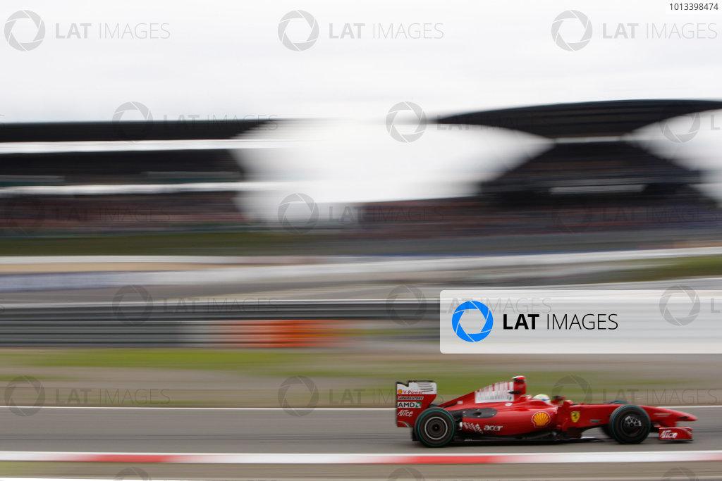 Nurburgring, Germany 10th July 2009 Felipe Massa, Ferrari F60. Action.  World Copyright: Glenn Dunbar/LAT Photographic ref: Digital Image _3GD4930