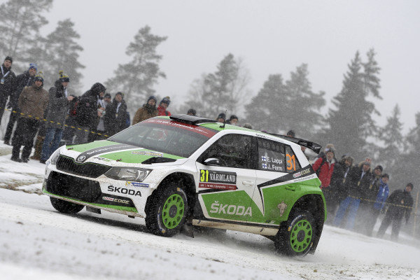 Esapekka Lappi (FIN) / Janne Ferm (FIN), Skoda Motorsport Fabia R5 WRC2 at World Rally Championship, Rd2, Rally Sweden, Day One, Karlstad, Sweden, 12 February 2016.