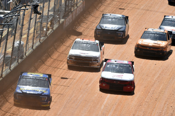 #22: Austin Wayne Self, AM Racing, Chevrolet Silverado GOTEXAN/AM #38: Todd Gilliland, Front Row Motorsports, Ford F-150 Speedco