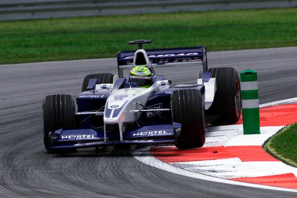 2001 Malaysian Grand Prix.Sepang, Kuala Lumpur, Malaysia. 16-18 March 2001.Ralf Schumacher (Williams FW23 BMW) 5th position.World Copyright: Steve Etherington / LAT Photographicref: 18mb Digital Image