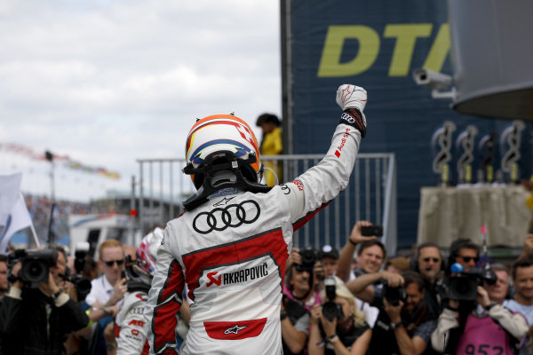 Race winner Mike Rockenfeller, Audi Sport Team Phoenix.