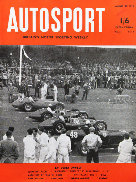 Cover of Autosport magazine, 29th August 1952