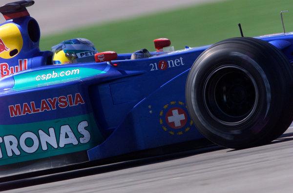 2001 American Grand Prix - RaceIndianapolis, United States. 30th September 2001.Nick Heidfeld, Sauber Petronas C20, action.World Copyright: Steve Etherington/LAT Photographicref: 18mb Digital Image