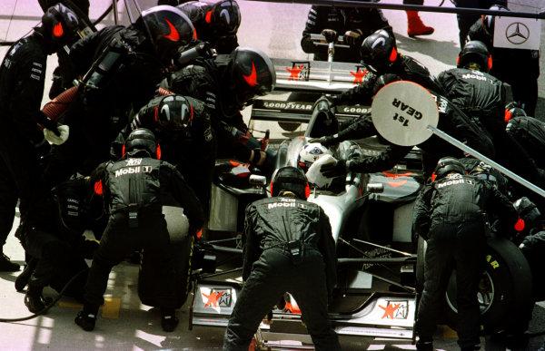 1997 British Grand Prix.Silverstone, England.11-13 July 1997.David Coulthard (McLaren MP4/12 Mercedes-Benz).World Copyright - LAT Photographic