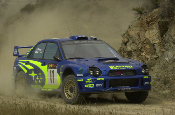 World Rally Championship, Cyprus Rally, April 18-21, 2002.Petter Solberg during shakedownPhoto: Ralph Hardwick/LAT