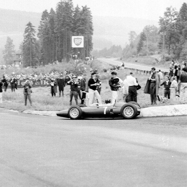 1963 Belgian Grand Prix.Spa-Francorchamps, Belgium.7-9 June 1963.Graham Hill (BRM P57).Ref-19293.World Copyright - LAT Photographic