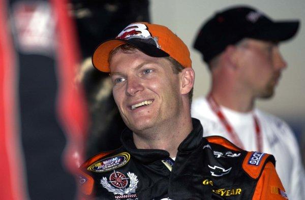 2002 NASCAR,Richmond Intl. Raceway,Sept 06-07, 20022002 NASCAR, Richmond,Va . USA -Dale Earnhardt Jr. is all smiles prior to the bgn event,Copyright-Robt LeSieur2002LAT Photographic