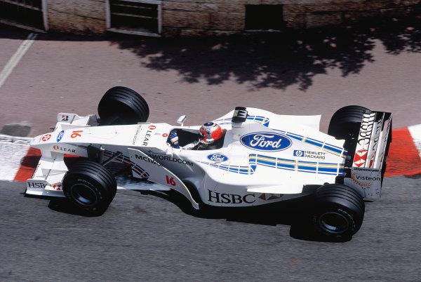 1999 Monaco Grand Prix.Monte Carlo, Monaco. 13-16 April 1999.Rubens Barrichello (Stewart SF3 Ford) at Lower Mirabeau.Ref-99 MON 102.World Copyright - Charles Coates/LAT Photographic
