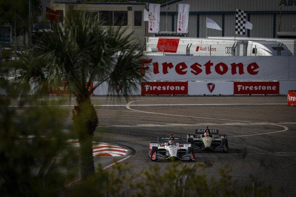 Marco Andretti, Andretti Herta with Marco & Curb-Agajanian Honda, James Hinchcliffe, Arrow Schmidt Peterson Motorsports Honda