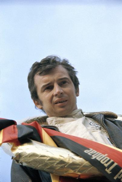 Winner Jean-Pierre Beltoise on the podium.
