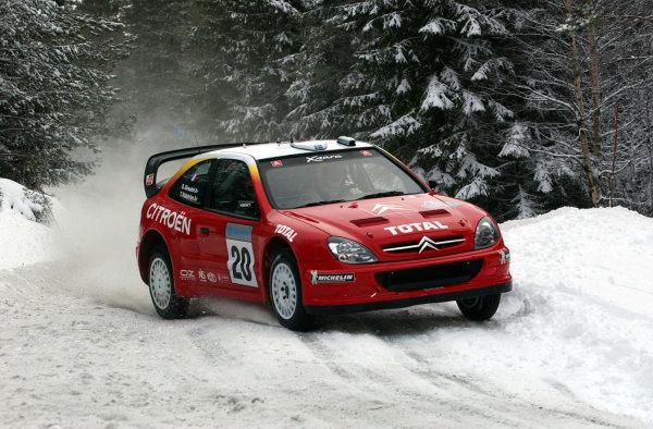 2002 World Rally ChampionshipUddeholm Swedish Rally, 1st-3rd February 2002.Thomas Radstrom during the shakedown.Photo: Ralph Hardwick/LAT