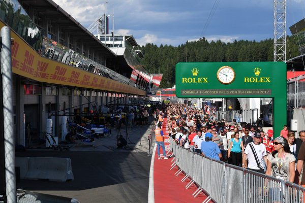 Fans at Formula One World Championship, Rd9, Austrian Grand Prix, Preparations, Spielberg, Austria, Thursday 6 July 2017.